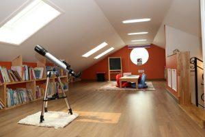 living room in loft